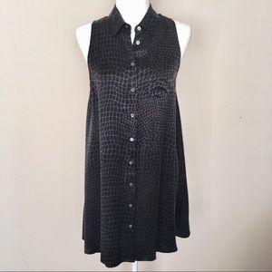 Equipment Sleeveless Silk Button Shirt Dress